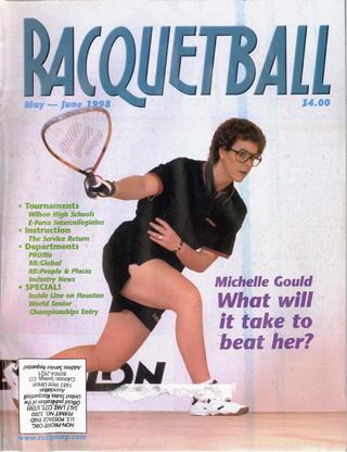 Racquetball Magazine May/June 1998 cover